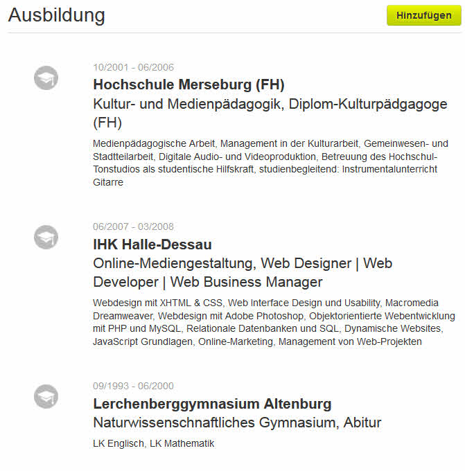 Ausgezeichnet Probe Allgemeine Lebenslauf Profil Bilder ...